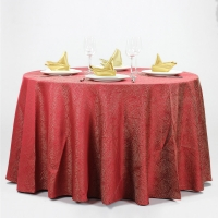 Buy cheap 100% Polyester Hotel Dinning Wedding Table Linens Logo Print from wholesalers