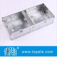 Buy cheap BS4662 GI Switch One Gang / Two Gang Electrical Boxes And Covers, GI Conduit Boxes from wholesalers