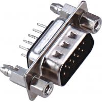 Buy cheap D - SUB Dual Row 9 Pin Male Connector 180°DIP PBT Type Brass 3.0AMP Current Rating ROHS from wholesalers