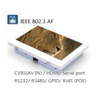 Buy cheap 7 Inch IEEE802.3af POE Touch Panel PC With RJ45 RS485 RS232 Camera from wholesalers
