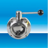 Buy cheap Sanitary pneumatic butterfly valve from wholesalers