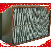 Buy cheap 1220x610x220mm stainless steel (SUS304 316L) metal frame high temperature HEPA filter from wholesalers