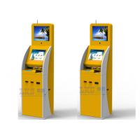 Buy cheap Passport Scanner Card Dispenser Self Service Kiosk , 15 / 17 inch Infrared Touch Screen from wholesalers