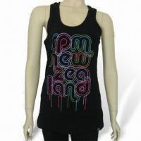Buy cheap Women's Tank Top, Made of 100% Cotton, Various Colors are Available from wholesalers