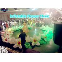 Buy cheap 10m Length Decorative Inflatable Wedding Flower Chain for Adults from wholesalers