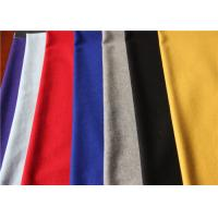 Anti Pilling Colorful Flannel Wool Fabric 60 Wool 40 Polyester 380g Per Meter Hat Dress Skirt