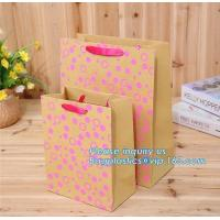 Buy cheap Custom Recycled Ladies Carrier kraft Paper Bag Shopping Bag for Clothes/Apparel/Gift,Art Paper Shopping Carrier Gift And from wholesalers