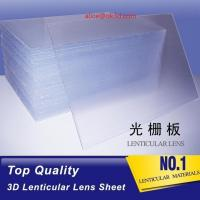 Buy cheap 51x71cm 0.45mm 75LPI PET Lenticular Lens Sheet for injekt print and uv print with good Lenticular Printing Effect from wholesalers