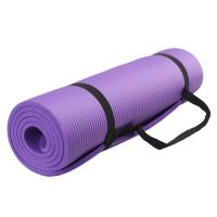 10mm,15mm Extra Thikness Anti-slip NBR Yoga Mat With Strap