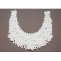 Buy cheap Custom White Round Embroidery Cotton Lace Collar  Necklines for Dress from wholesalers