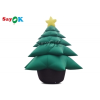 Buy cheap 5m Inflatable Holiday Decorations Green Christmas Tree With Ornaments from wholesalers
