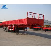 Buy cheap Bulk Cargo Tipper Semi Trailer , Semi Trailer Dump Truck With Container Lock from wholesalers