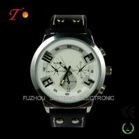 Buy cheap Fashion PU Leather Strap Quartz Wrist Watch sports watch  for Men from wholesalers