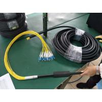 China 24-core optical cable,FTTA patch cord, LSZH outer jacket, black,  G657A2, 50/125 on sale