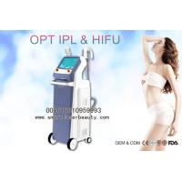 Buy cheap 2 In 1 IPL Hair Removal Machine / Ulthera HIFU Machine For Facial Lift Skin Rejuvenation from wholesalers