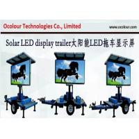 Buy cheap Industry Leading Solar Powered Mobile LED Billboard , LED Traffic Road Sign VMS Trailer from wholesalers