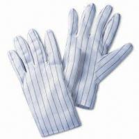 Buy cheap Dissipative Safety Glove, Non-linting, Comes in White, with Compatible Synthetic Filament Fiber from wholesalers