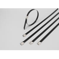 Buy cheap 201 304 316 PVC coated Stainless steel cable ties-ball self locking product