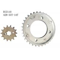 Buy cheap BIZ110 Motorcycle Chain And Sprocket Kit 33t-14t Metal Material Longer Usage Time from wholesalers