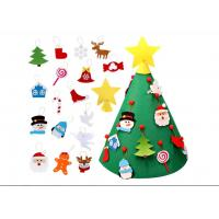 Buy cheap 3D DIY Felt Christmas Tree With Ornaments Kids Toys Christmas Party Decoration from wholesalers