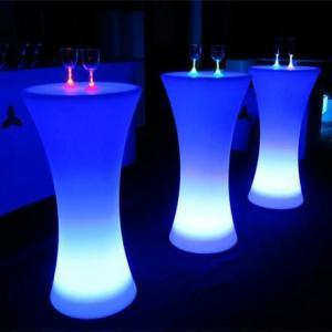 China Rechargeable LED Bar Furniture , Nightclub LED Illuminated Cocktail Table on sale