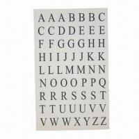 Buy cheap Self-adhesive printed letter labels for kids from wholesalers