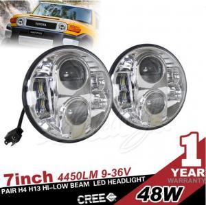China 7 Inch 80W Jeep Wrangler LED Car Headlight  Emark DOT SAE 12V  IP65 1 Years Aluminum on sale