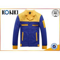 Buy cheap Formal Worker Custom Jackets Blue And Yellow Uniform Fashion Tops from wholesalers