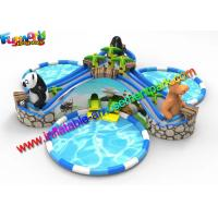 Buy cheap Beach Large Inflatable Water Parks , Pool Toys Inflatable Water Slides from wholesalers