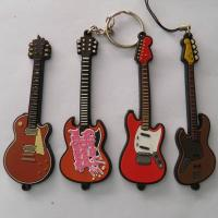soft pvc custom keychain guitar