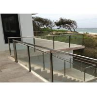 Buy cheap Customized 316 Stainless Steel And Glass Balcony Railings Outdoor Modern Design from wholesalers