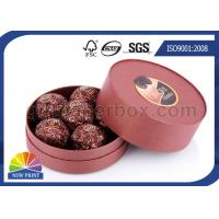 Buy cheap Customized Round Chocolate Packaging Box with Printing , Small Candy Coated Paper Boxes product