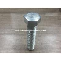Buy cheap Grade 8.8 Galvanized Hex Bolts Din 933 Stainless Steel / Carbon Steel Plain Color from wholesalers