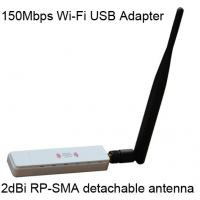 Buy cheap Networking WiFi Adapter External 2 dBi rp-sma antenna connectors 2.4 GWF-2B1T from wholesalers