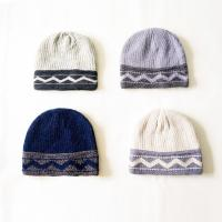Buy cheap New production  Wholesale striped wave pattern winter knitted beanie hats cap for teenagers boys from wholesalers