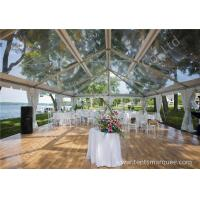 Buy cheap Pretty Transparent Cover Outdoor Wedding Reception Marquee Solid Anodized Aluminum Profile from wholesalers