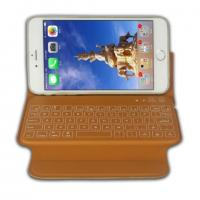 Buy cheap Light Wireless Iphone 6 Plus Bluetooth Keyboard Case Slim Leather Cover from wholesalers