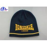 Buy cheap Women's Knitted Beanie Hats / Caps With Front Custom Printed Logo SGS / UL from wholesalers