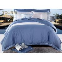 Buy cheap Egyptian Cotton Comfortable Hotel Quality Bed Linen Jacquard Hotel Bedding Sets Blue Stain from wholesalers