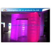 Buy cheap Pink Portable Inflatable Photo Booth Enclosure LED lighting 16 Colors product