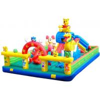Buy cheap Kids Giant Inflatable Toys Inflatable Fun City / Inflatable Bouncy Castle With Slide from wholesalers