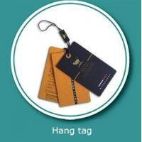 Buy cheap Customized Logo Printing paper garment tags with hanging tablets from wholesalers