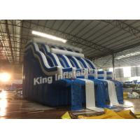 Buy cheap Four Lane Blue Inflatable Water Slide Adult / Kids Swimming Pool Water Slide from Wholesalers