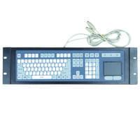 Buy cheap Membrane rack-mounted industrial metal keyboard with touchpad from wholesalers