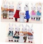 Buy cheap Tiramitu Stuffed Bunny Keychain , Wear Retro Floral Dress Plush Rabbit Keychain from wholesalers