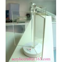 Buy cheap Clear acrylic three sides rotating leaflet holder, PMMA revolving menu holder from wholesalers