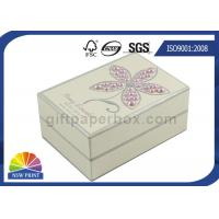 Buy cheap Pearl Decorated Fancy Small Cardboard Paper Box / Rectangle Rigid Paper Box from wholesalers