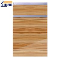Buy cheap Replacement High Gloss Kitchen Cabinets Doors Vinyl Pressed MDF Panels from wholesalers