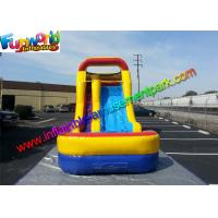 Buy cheap 1000D PVC Tarpaulin Mini Inflatable Water Slide , Inflatable Wet Slides from wholesalers