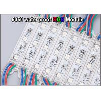 Buy cheap 5050 RGB LED module light 20pcs/string 12V colorchanging modules lighting for backlight sign from wholesalers